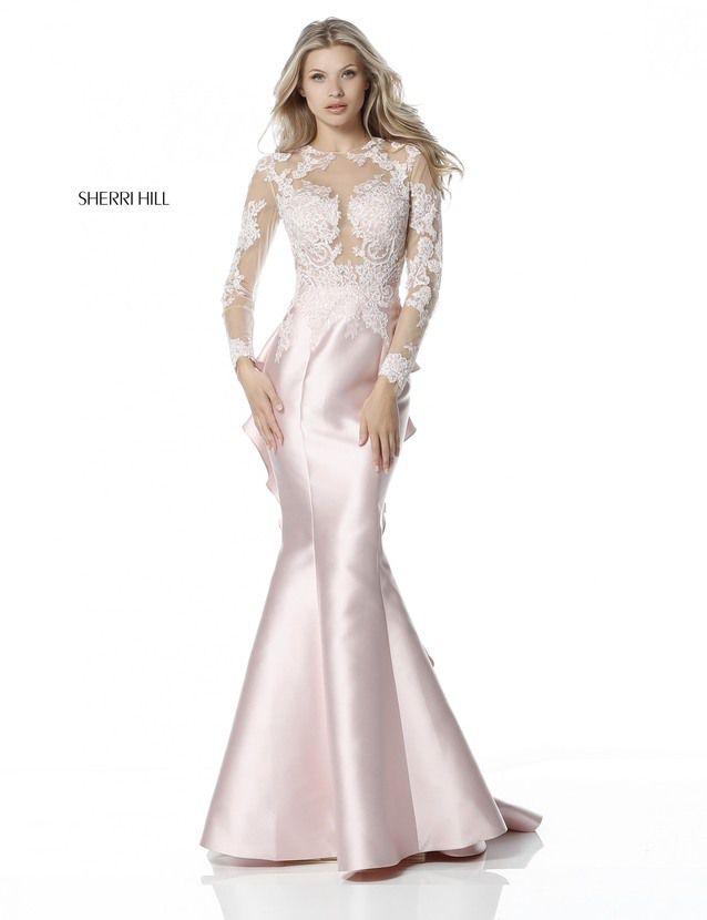 2159fc5523c SH 51606 Applique Long Sleeves Ivory Prom Dresses 2018 - homecoming dresses  shop