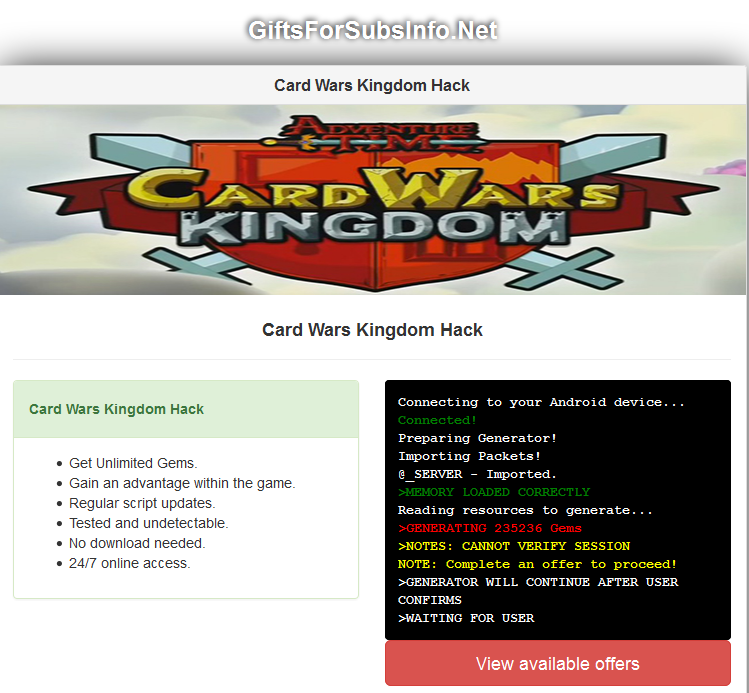 Card Wars Kingdom Cheats & Hack for Android & iOS