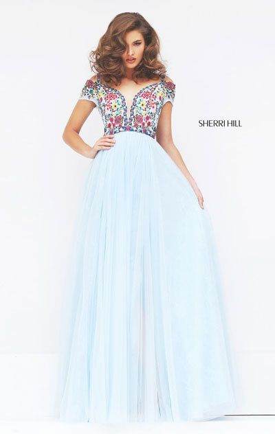003a7280083 Be the epitome of grace and elegance in Sherri Hill 50151. Off-the-shoulder  neckline with cutout detail along the cap sleeves feature ...