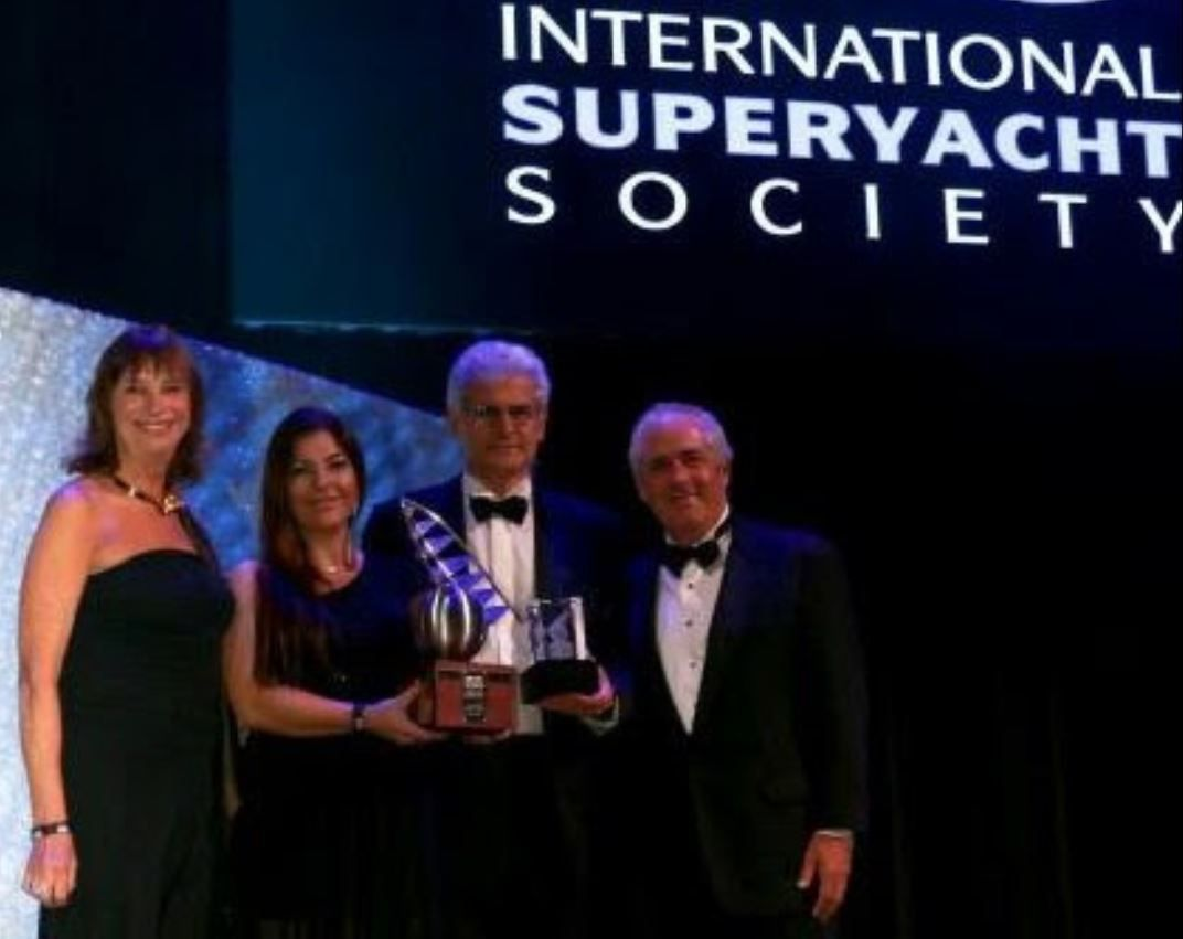 Vincenzo Poerio, CEO Benetti, accepted the Award during the Gala