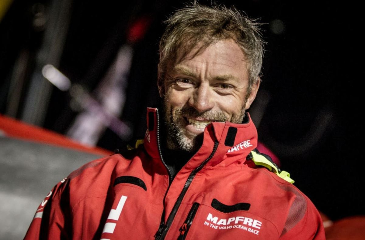 Rob Greenhalgh as a watch captain of the Volvo Ocean Race Mapfre Team