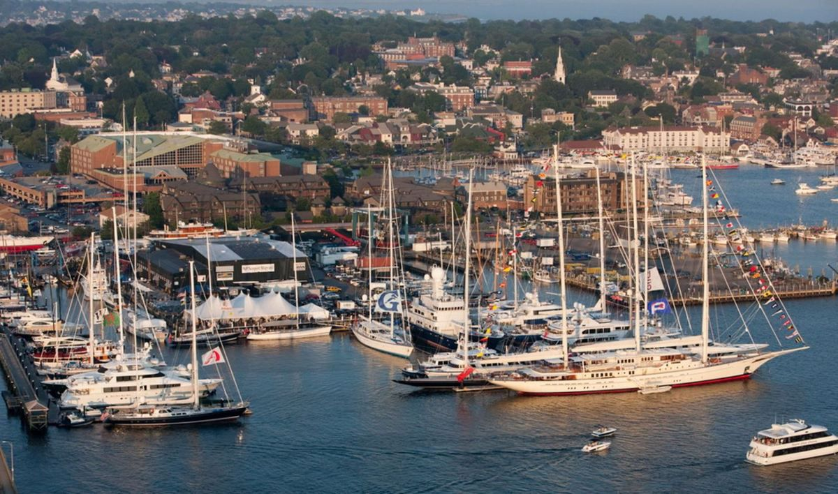 Candy Store Cup Aerial - Aerial Newport Shipyard - photo: Billy Black
