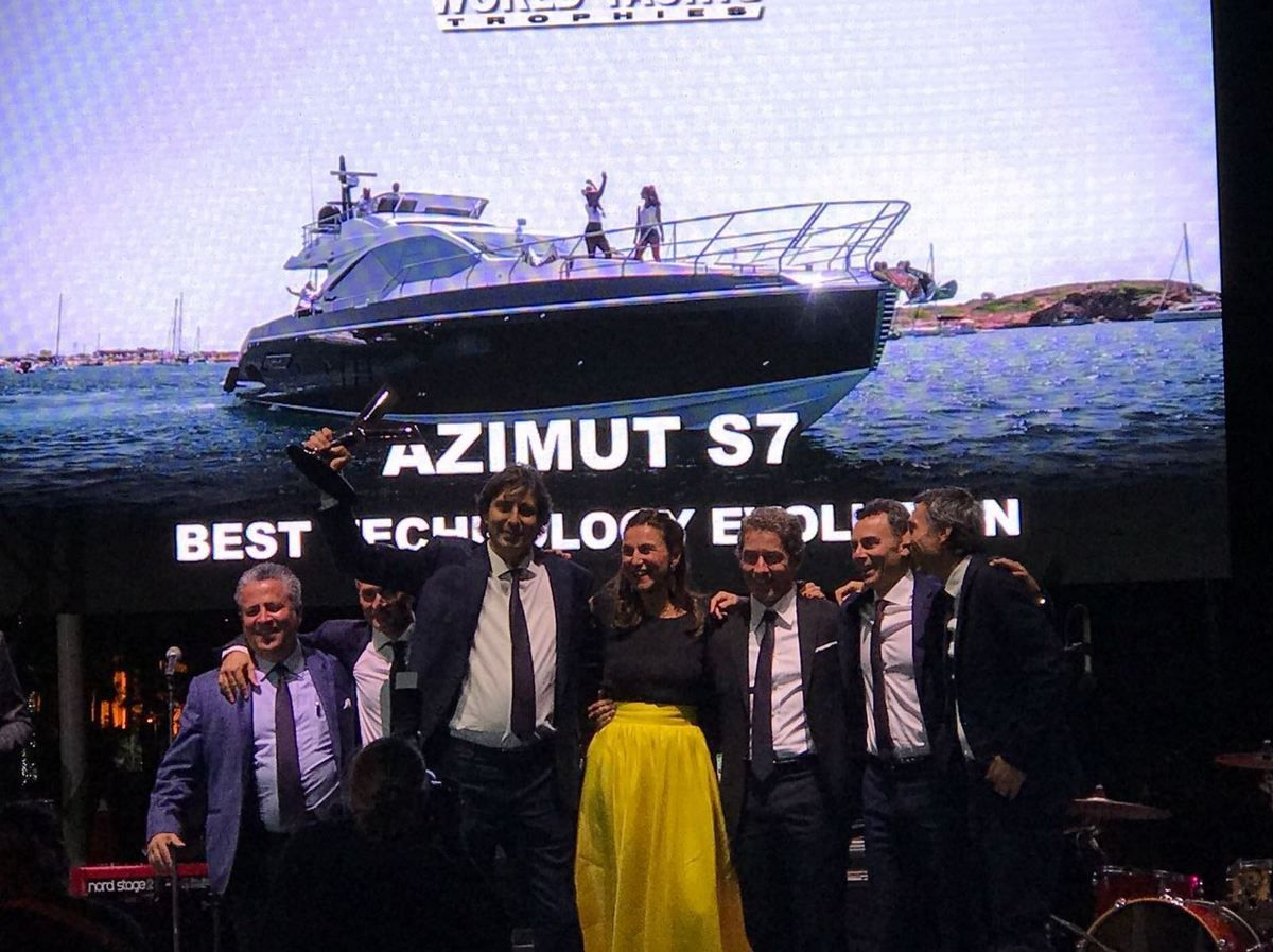 Azimut Yachts wins 4 awards at the World Yachts Trophies