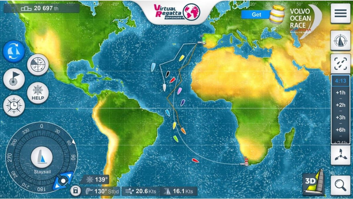 Volvo Ocean Race teams up with Virtual Regatta for 2017-18 race game