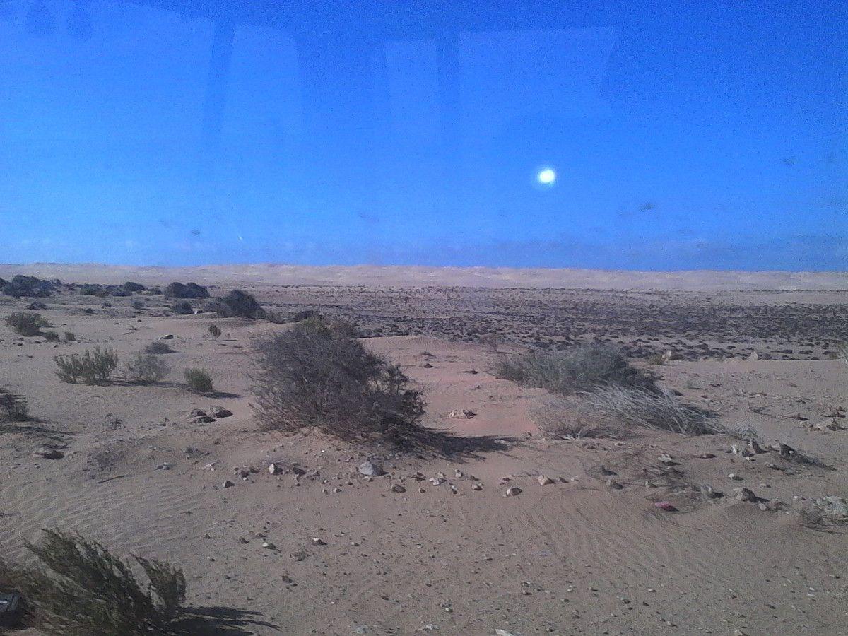 début de la traversée du Sahara et début de la vaiselle pour moi !