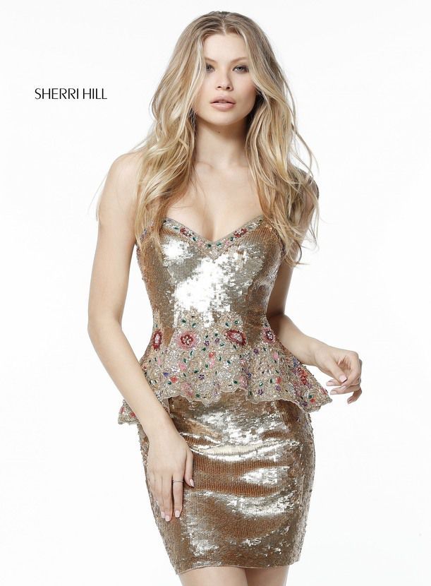 c333474079 Sherri Hill 51345 Gold - 2016 short homecoming dresses