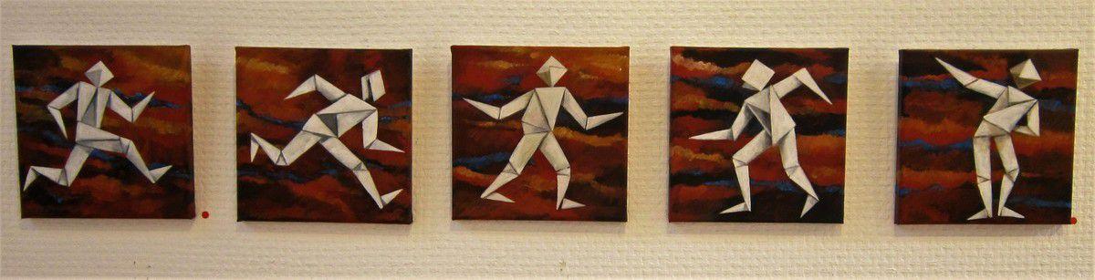 """Viola Montenot, """"Pliés et liés"""", acryl/toile."""