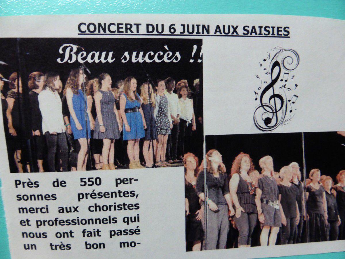 6 juin 2015 - Concert des Saisies - Première partie de Coul'Caf
