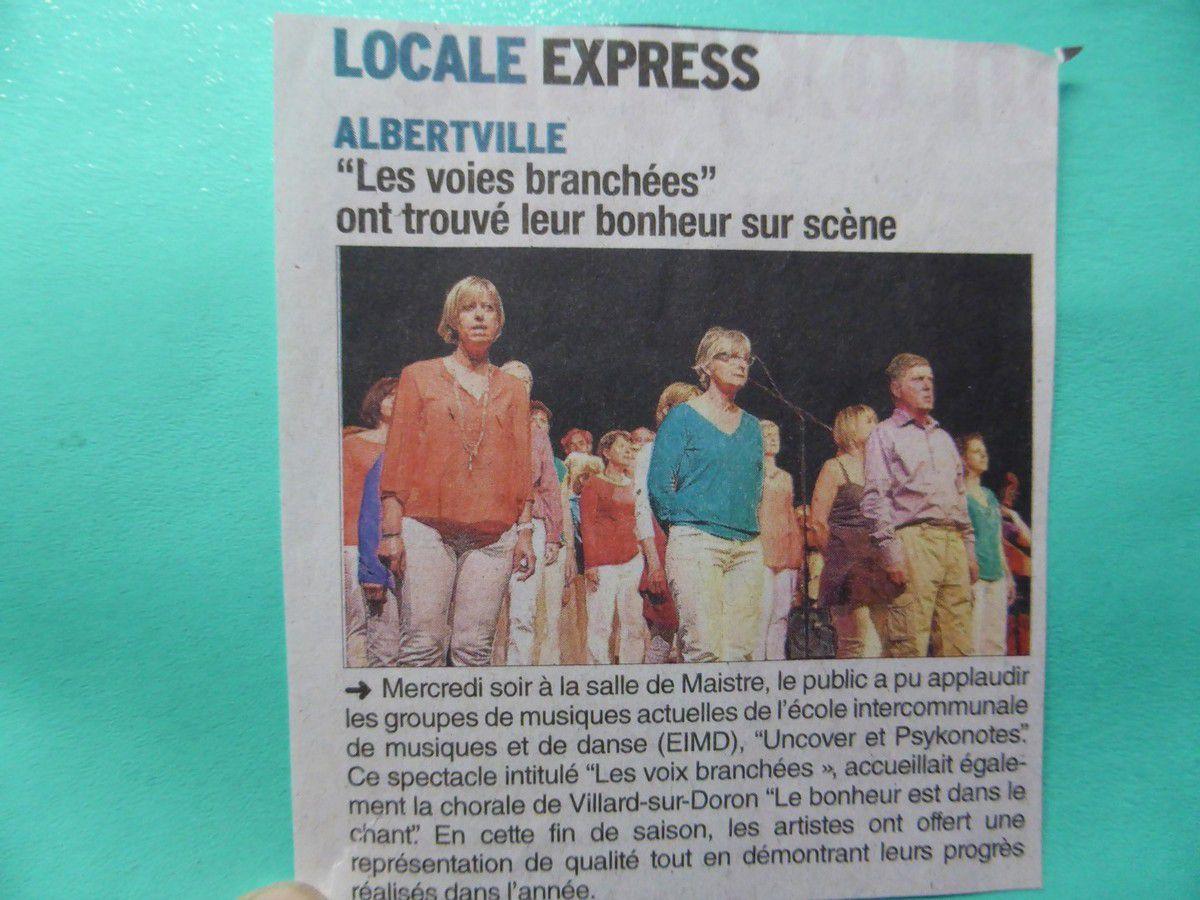 """20 mai 2015 - A Albertville, Concert """"Les voix branchées"""" avec les groupes de Musique actuelle de l'EMD"""