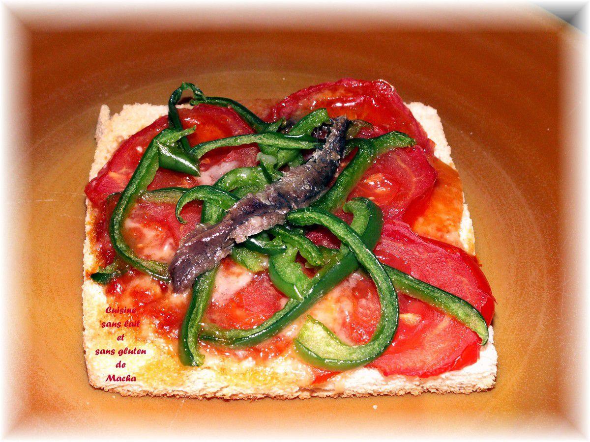 Tartine façon pizza