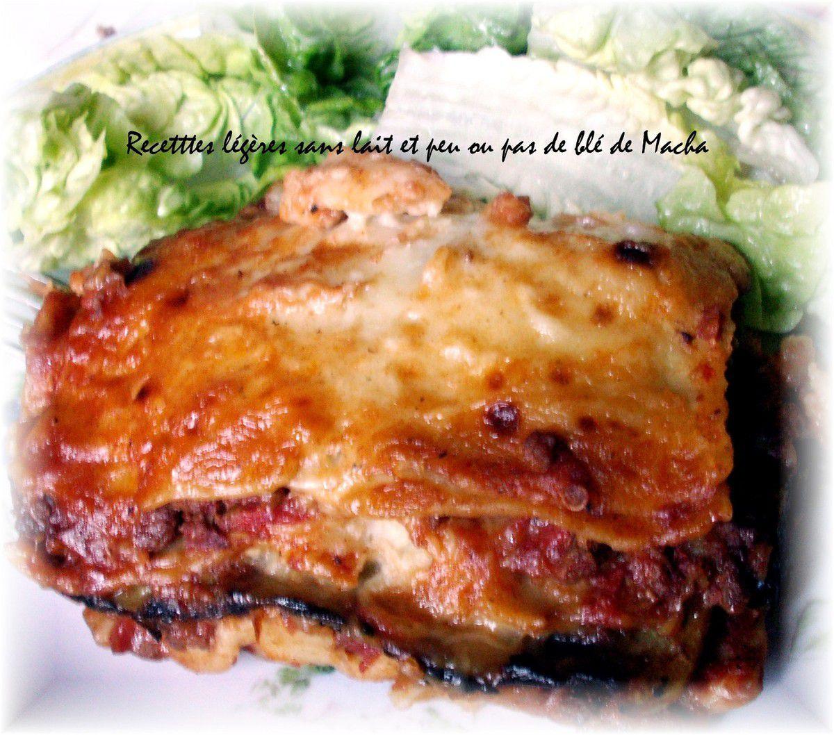 Lasagnes bolognaise et courgettes