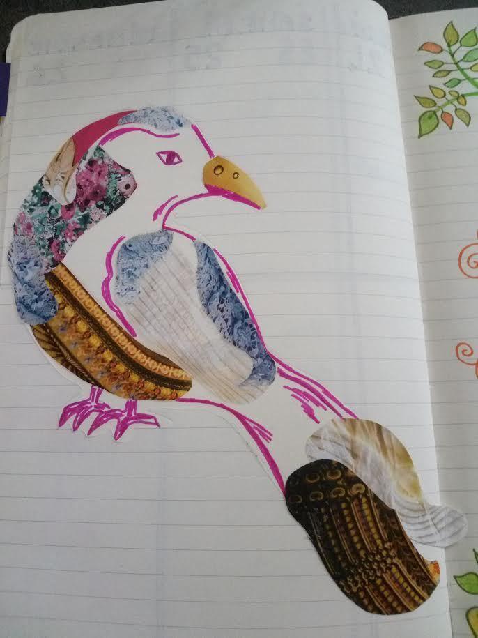 Et pour finir un dessin/collage qui trouve sa place dans mon bullet journal