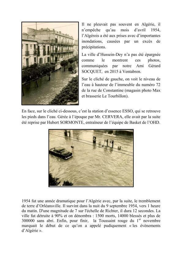Les inondations de 1954 à Hussein-Dey.