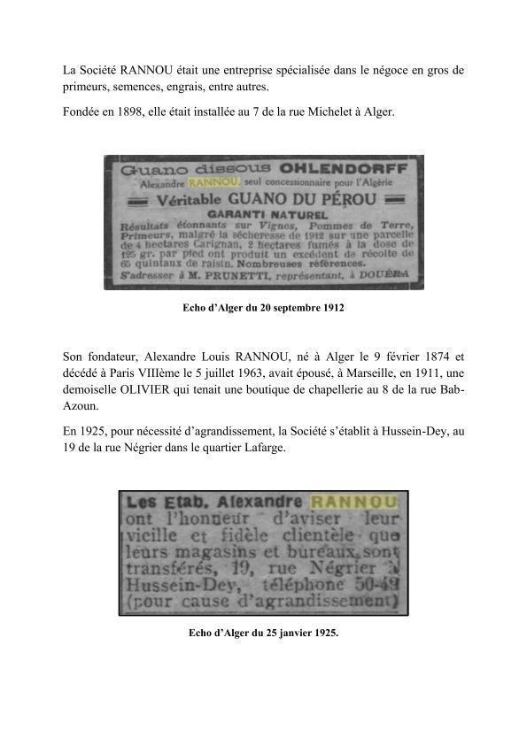 La Société RANNOU.