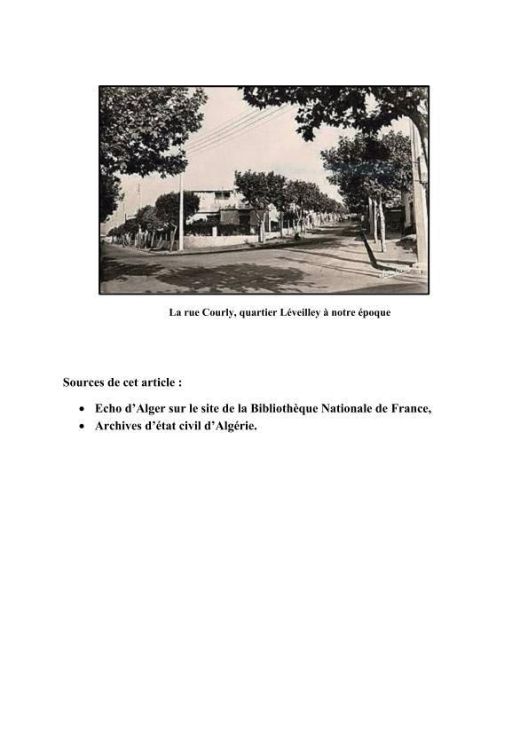 L'origine du Quartier LEVEILLEY.