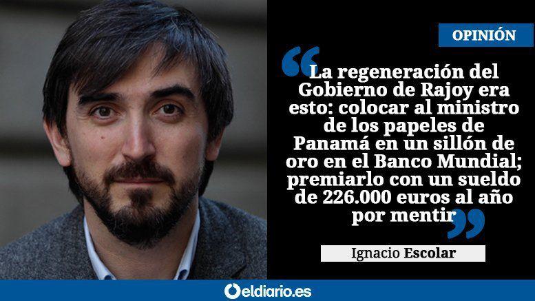 El enchufe al mentiroso Soria demuestra por qué fracasa Rajoy