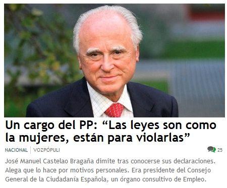 Jose Manuel Castelao (PP) :Las leyes son como las mujeres, están para violarlas