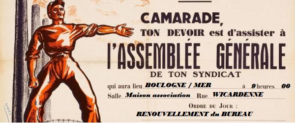 ASSEMBLÉE GÉNÉRALE du SYNDICAT des TRANSPORTS
