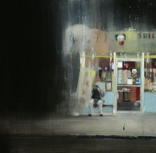lumière sombre dans la rue