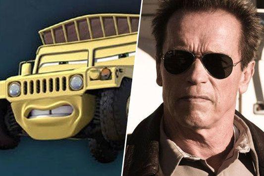 Sven (Cars), inspiré par Arnold Schwarzenegger