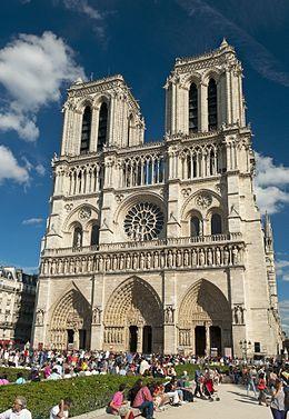 La sortie à la cathédrale Notre Dame à Paris