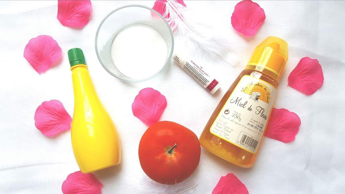 Nouvelle liste grande remise pour acheter Masque anti acné à la tomate et gommage lèvre fait maison ...