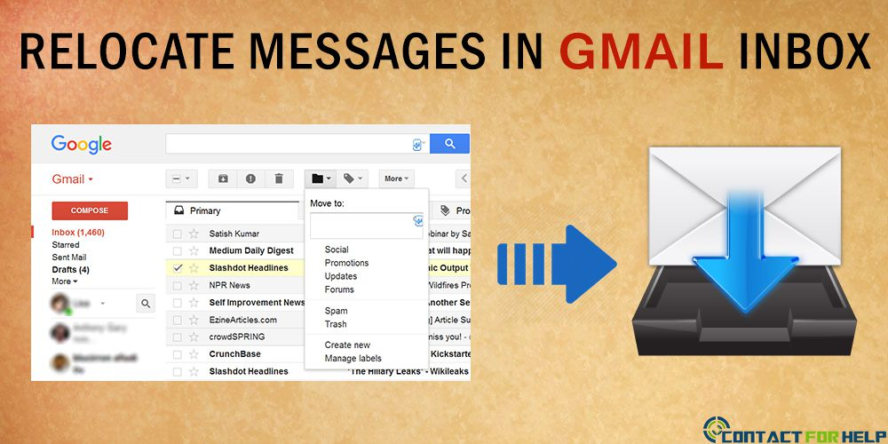 Relocate Emails between the Inbox Tabs in Gmail
