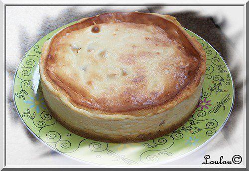 Cheesecake aux poires caramélisées et fève tonka