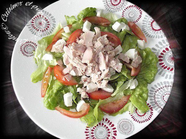 Assiette de thon et crudités