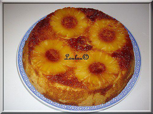 Gâteau renversé à l'ananas de Missrimel