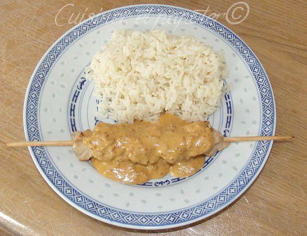 Satay de poulet