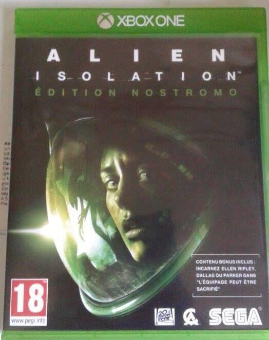 """J'ai dégoté """"Alien Isolation Edition Nostromo"""" pour 20 euros sous blister dans une brocante ce week-end, il est en court d'installation, bien sur je compte faire un stream ce soir histoire de le découvrir (je n'y ai jamais jouer) hâte de m'y frotter ^^"""