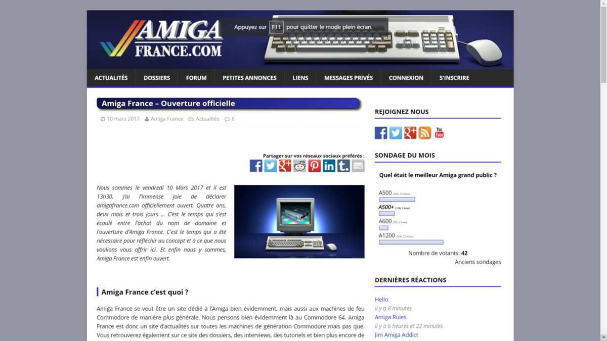 Amiga France - page d'acceuil