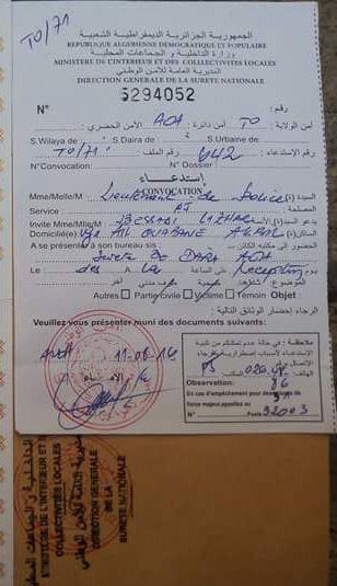 Convocations reçues par les deux militants du MAK.