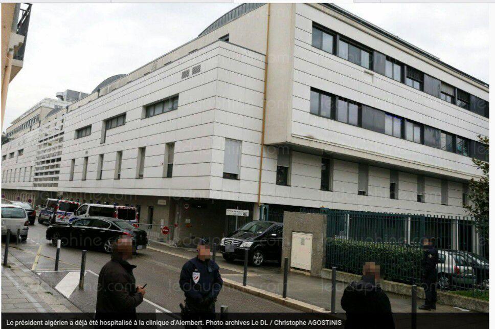 Vidéo : Abdelaziz Bouteflika hospitalisé à la Clinique d'Alembert à Grenoble. K-Direct