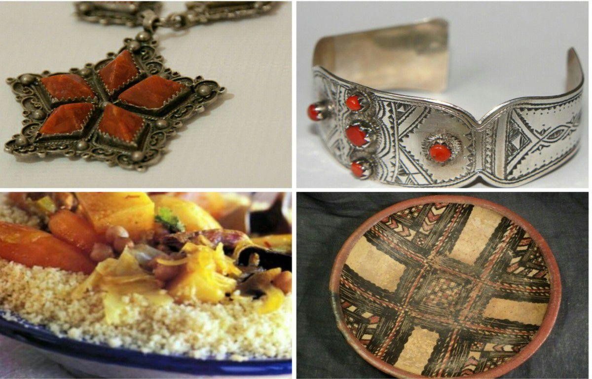 Bijoux et plats traditionnels Kabyles