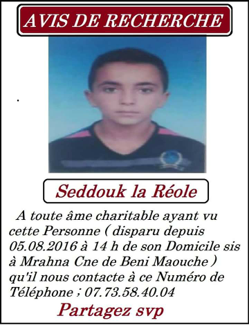 URGENT  - Disparition en Kabylie