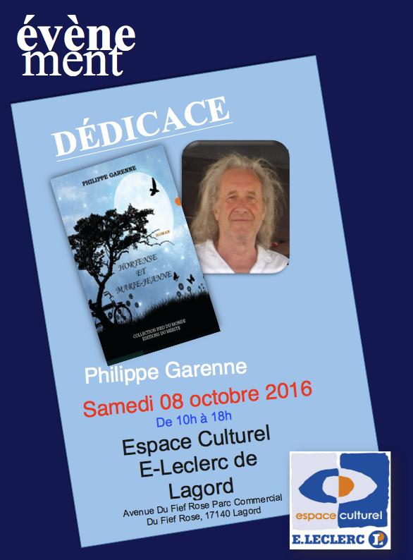 Philippe Garenne était en dédicace à l'espace culturel Leclerc à Lagord