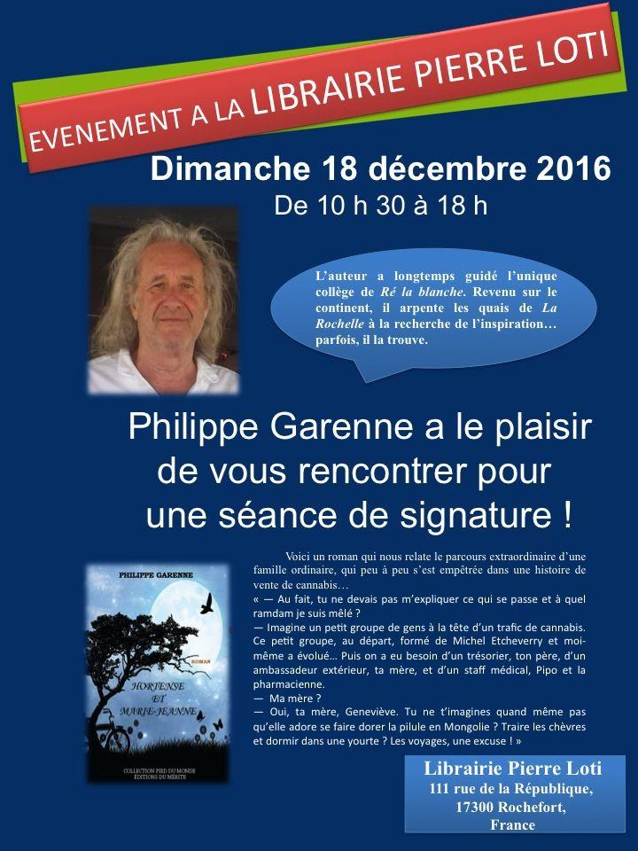 Philippe Garenne en dédicace à la librairie Pierre Loti