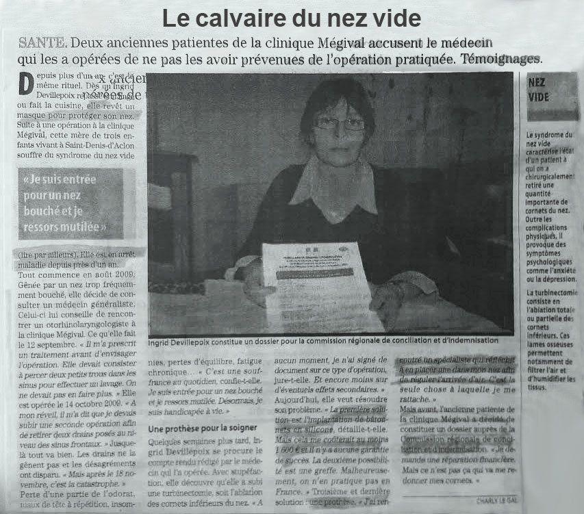 Témoignage d'Ingrid Devillepoix, victime du SNV (France)