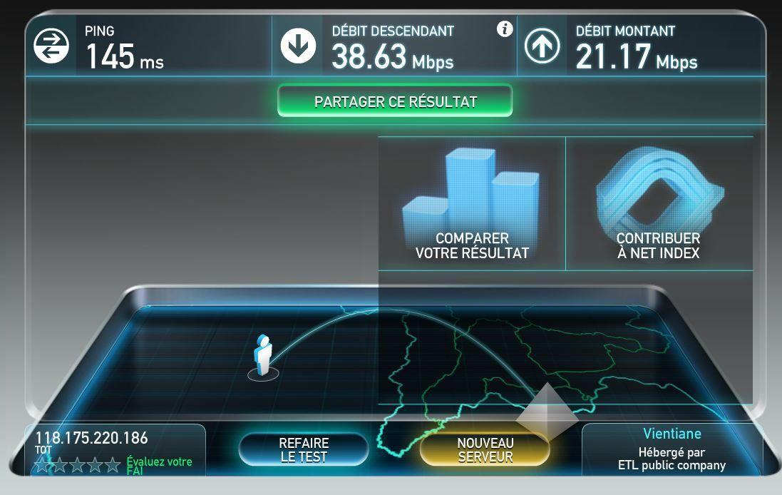 Même en pleine campagne nous avons des débits Internet jamais vu en France, mais qu'attend Orange pour imiter la Thaïlande ?