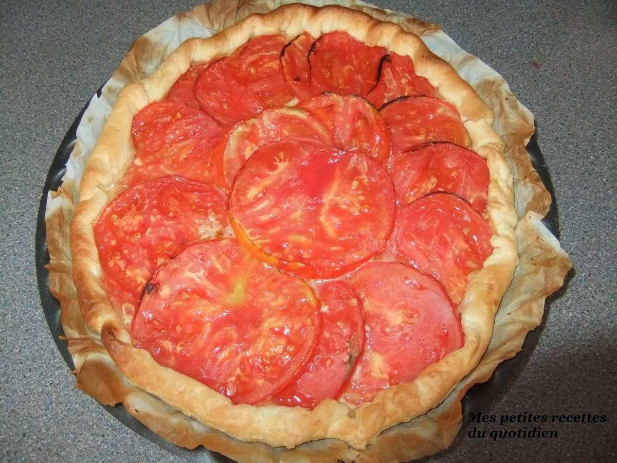 Tarte à la tomate et gruyère