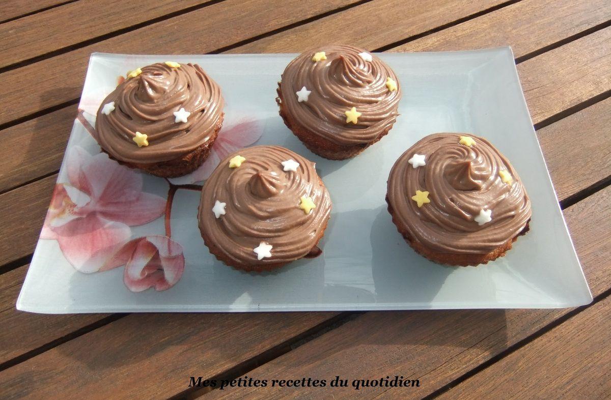 Cupcakes bananes et chocolat
