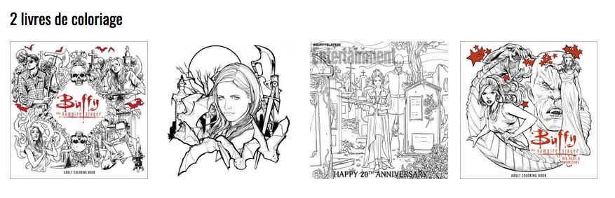 Après le succès du premier livre de coloriage, l'éditeur Dark Horse a décidé de publier un second volume cette fois centré autour des Big Bads et autres montres préférés du Buffyverse ! Intitulé Buffy the Vampire Slayer: Big Bads & Monsters, ce livre sera composé de 45 dessins inédits représentant le Scooby Gang mais aussi le Maître, Spike, Drusilla, Angelus et les autres montres les plus marquants de la série. La sortie est prévue pour le 19 septembre 2017. Le livre sera composé de 96 pages et sera vendu au prix de 14,97 €. A noter : Une réédition du 1er volume avec des pages supplémentaires est prévue pour le 10 mars 2017.