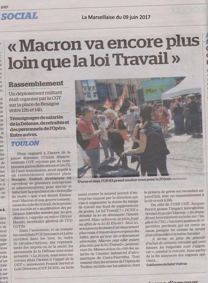 Mobilisation pour le progrès social du 8 juin à Toulon