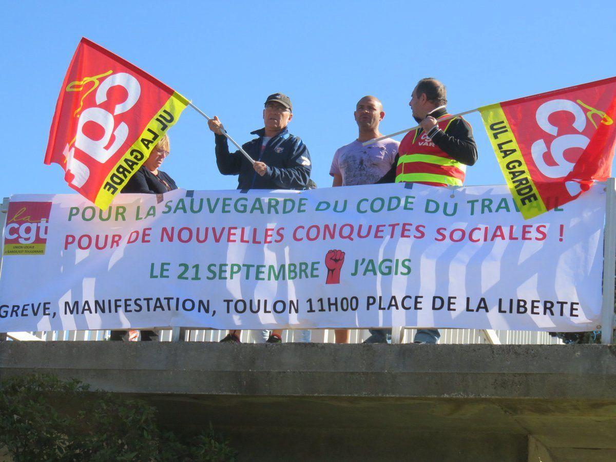 Face à la Loi &quot&#x3B;travail&quot&#x3B; Macron/Medef, le 21 septembre et les jours suivants, le combat continue, on lâche rien !