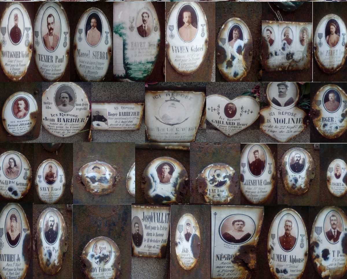 un coup de neuf , plaques monument aux morts cimetière de Marseillan