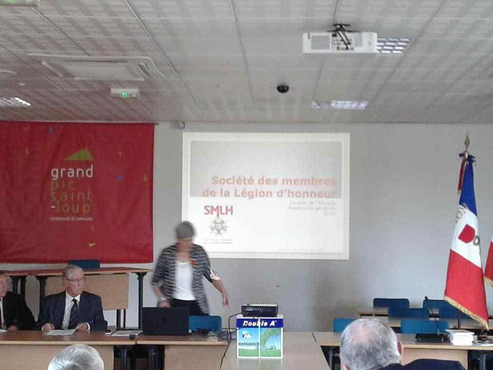 Présentation  des activités de la Section de l'Hérault par Madame La Présidente Danièle ABEN