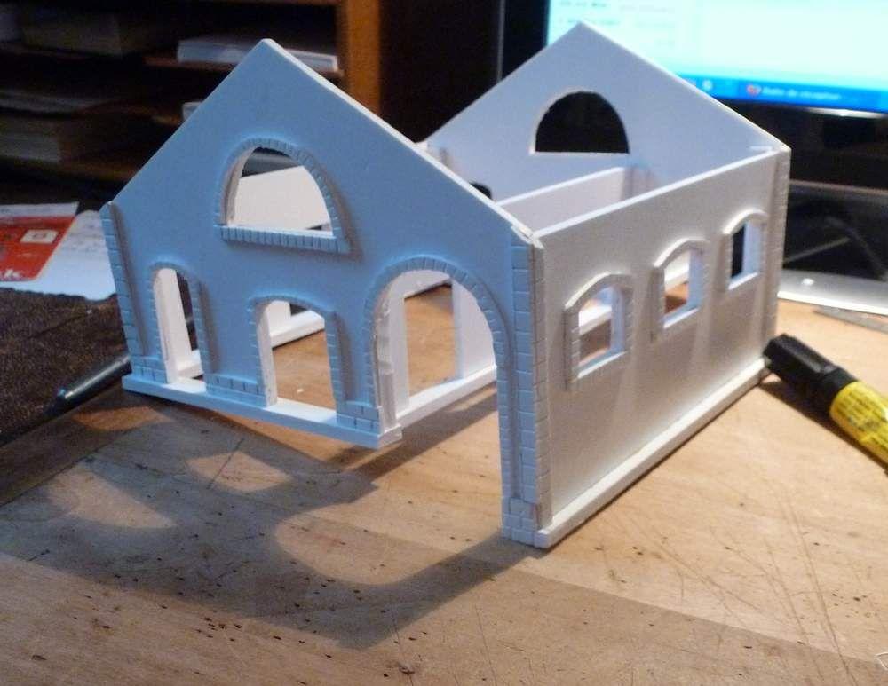 Construction d'une halle marchandise  en PVC (Forex) thème &quot&#x3B;St Amand&quot&#x3B;