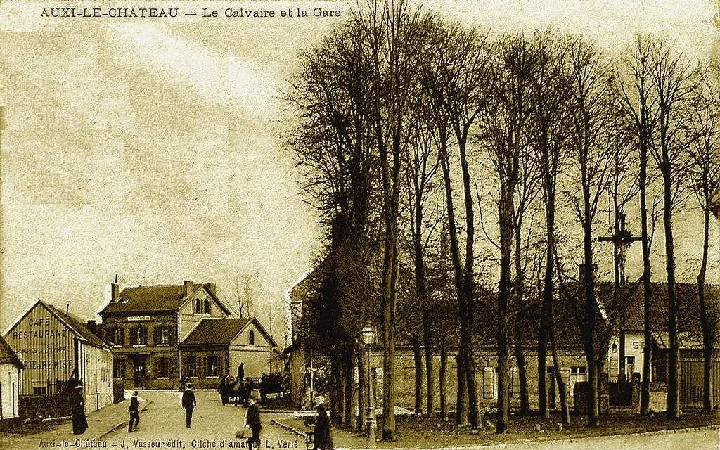 CP gare d'Auxy le chateau (coté cour)